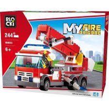 Blocki MyFire kleines Feuerwehrleiterfahrzeug