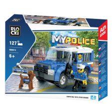 Blocki MyPolice Polizeieinsatzwagen mit Polizeihund