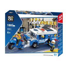 Blocki MyPolice Polizeiauto und Motorrad
