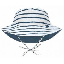 LSF Sun Protection Bucket Hat Stripes navy,