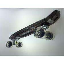 Longway Mini Board Pennyboard mit LED schwarz