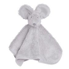 Kuscheltuch Maus silbergrau