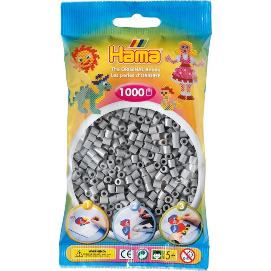 HAMA Perlen, grau, 1.000 Stück