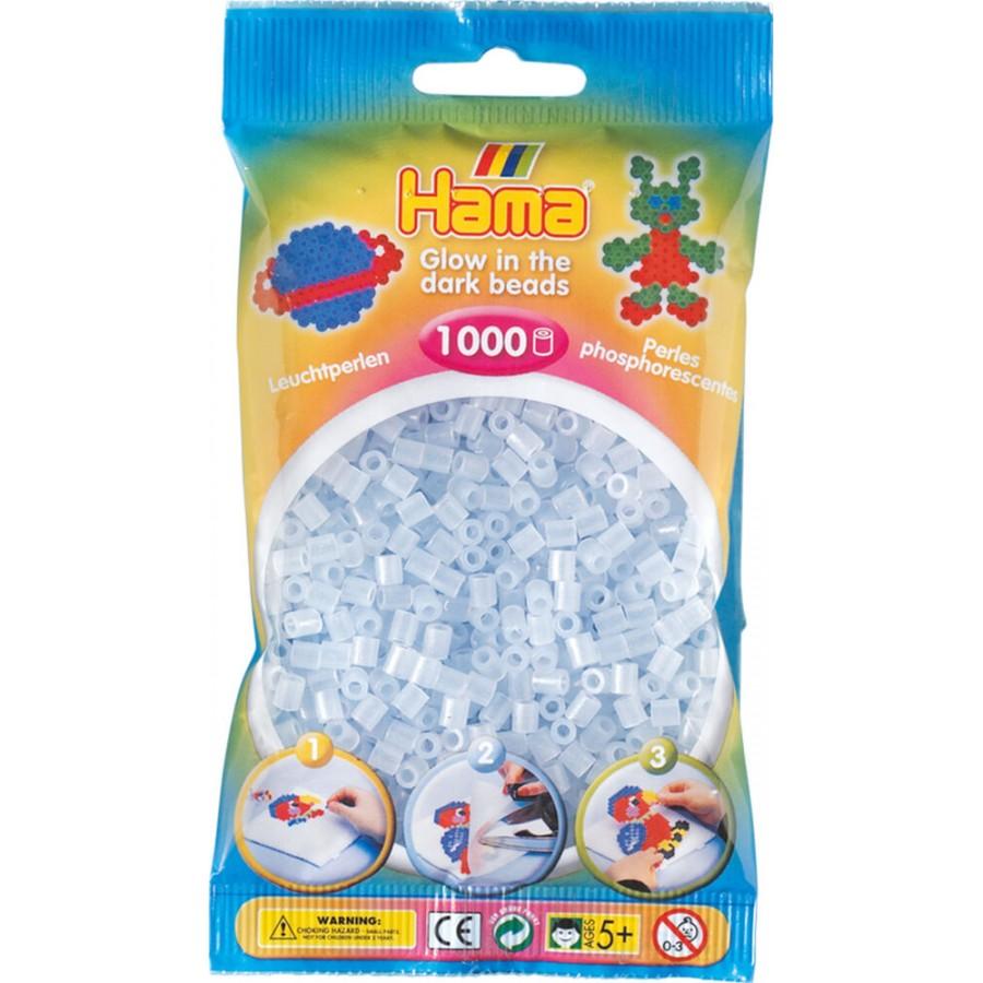 HAMA Bügelperlen Midi - Leuchtblau 1000 Perlen