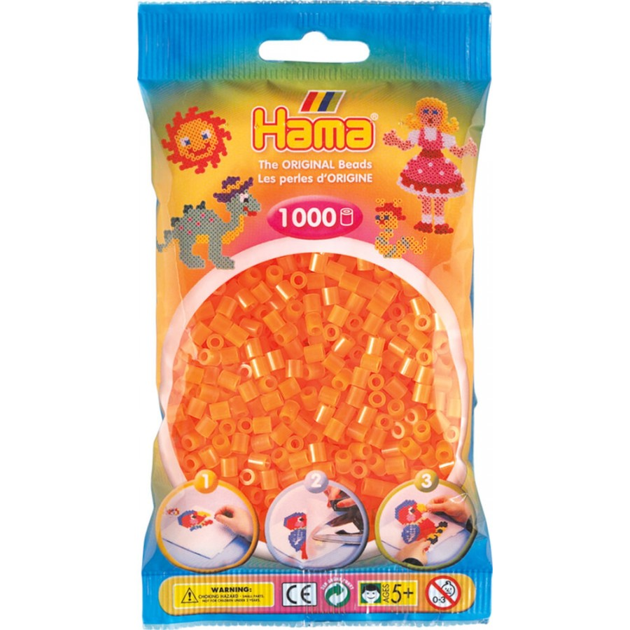 HAMA Bügelperlen Midi - Neion Orange 1000 Perlen