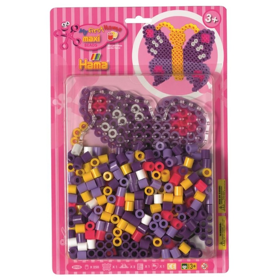 HAMA Bügelperlen Maxi - Blisterset Schmetterling - 1 Stiftplatte Schmetterling