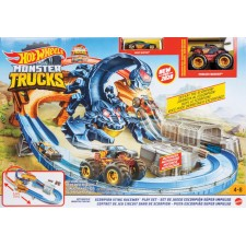 Mattel GNB05 Hot Wheels Monster Trucks Skorpion Beschleuniger Rennbahn Set