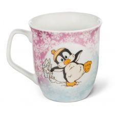 Tasse Winter Pinguin Peppi und Eule Aurina