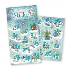 Tapir Ella Adventskalender Sticker Winterzauber