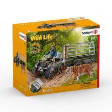 Schleich Wild Life 42351 Quad mit Anhänger und Ranger