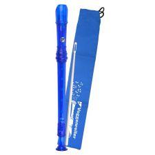 Kunststoff-Blockflöte (blau) barocke Griffweise