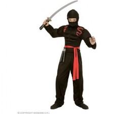 Super Muskel Ninja 140 - (Muskelshirt mit Kapuze, Gesichtsmaske, Hose, Gürtel)