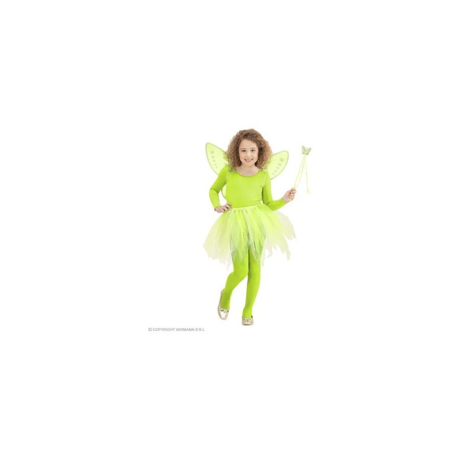"MAGIC FAIRY"" grün (Tütü, Flügel, Feenstab)"