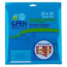 Open Bricks Baseplate 32x32 transparent blue