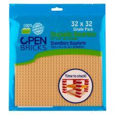 Open Bricks Baseplate 32x32 sand