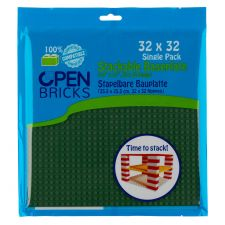 Open Bricks Baseplate 32x32 olive grün