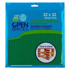 Open Bricks Baseplate 32x32 hellgrün