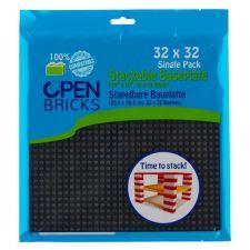 Open Bricks Baseplate 32x32 black