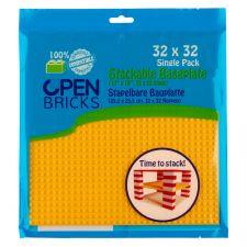 Open Bricks Baseplate 32x32 gelb