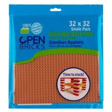 Open Bricks Baseplate 32x32 hellbraun