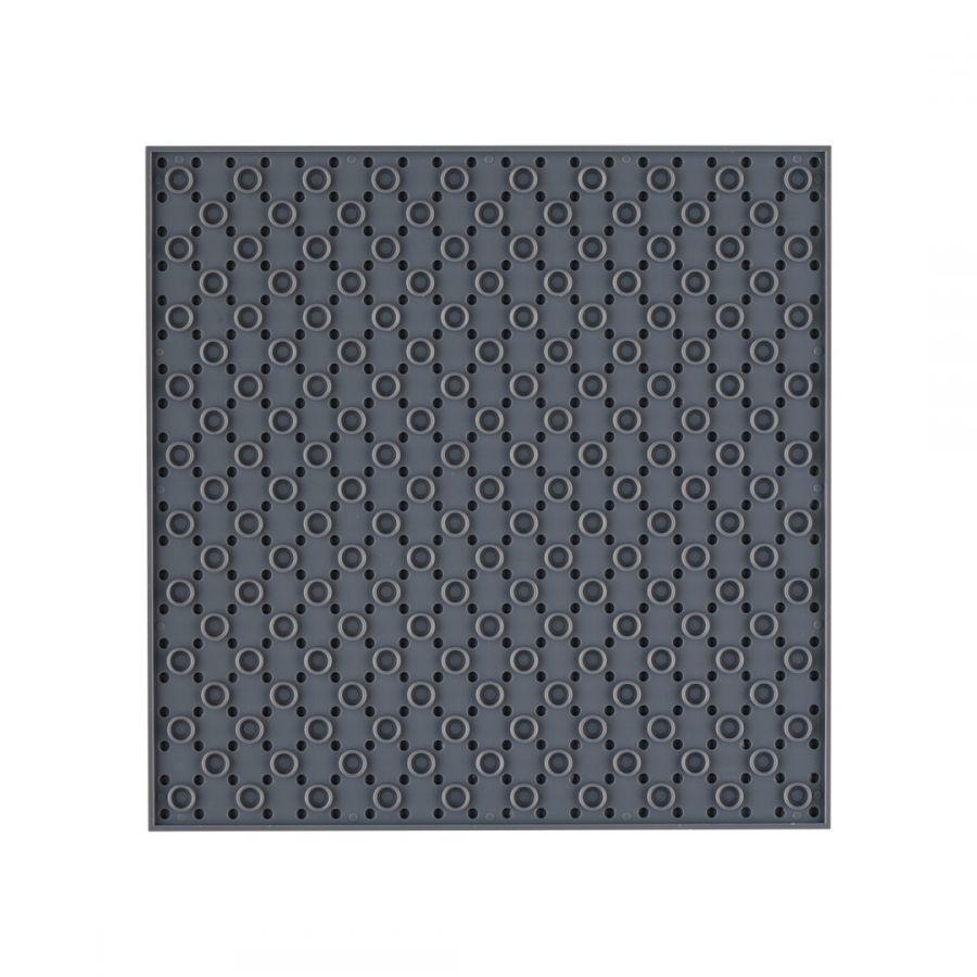Open Bricks Baseplate 20x20 dunkelgrau
