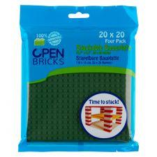 Open Bricks Baseplate 20x20 olive grün