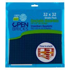 Open Bricks Baseplate 32x32 ea.blue