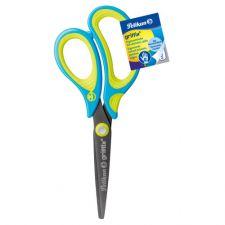 Schulschere griffix, ergonomisch, Neon Fresh Blue rechts spitz, 15 cm