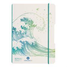 Notizheft flex A5, 40 Blatt, punktiert, Greenline Welle