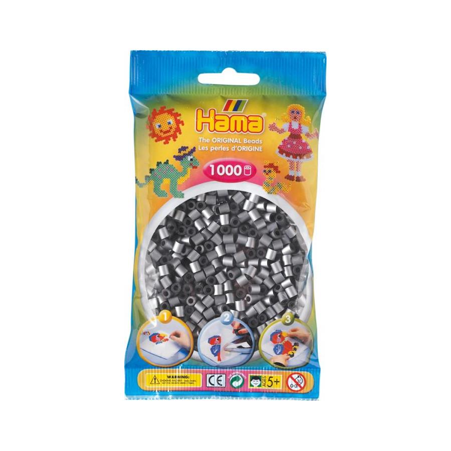 HAMA Bügelperlen Midi - Silber 1000 Perlen