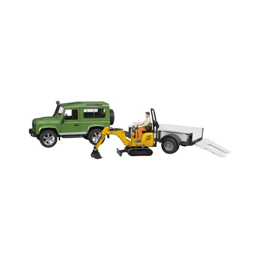 Bruder 02593 Land Rover Defender plus Zubehör