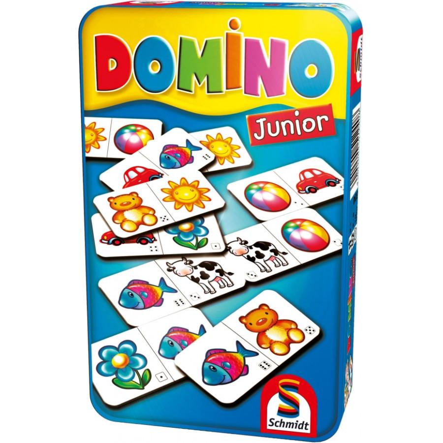 Schmidt Spiele Domino Junior Mitbringspiel in der Metalldose