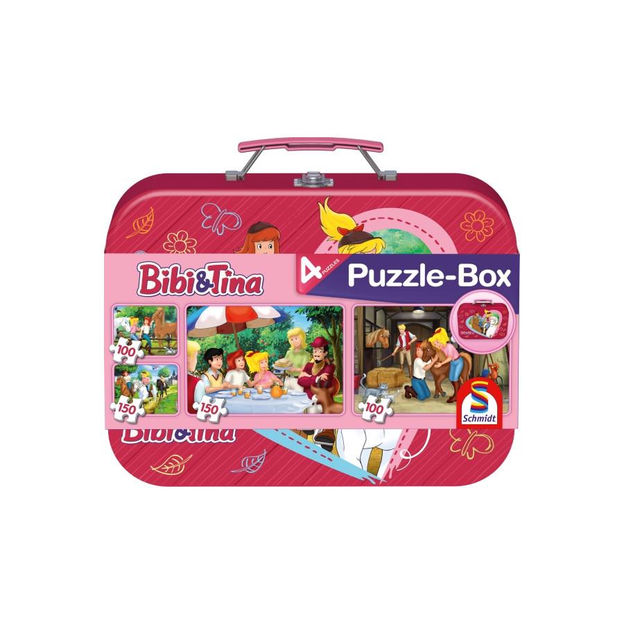 Schmidt Spiele Puzzle Bibi & Tina im Metallkoffer 2 x 100 Teile, 2 x 150 Teile