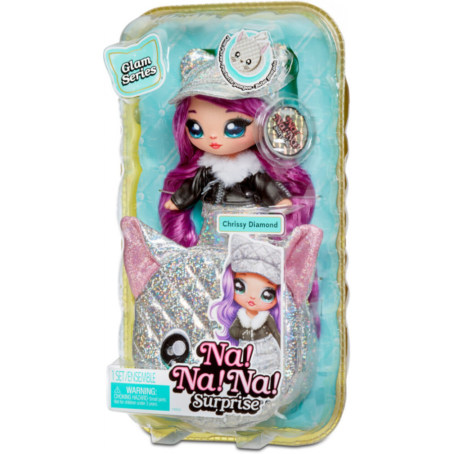 Na! Na! Na! Surprise 2-in-1 Pom Doll Metallic Series 1 Asst in PDQ