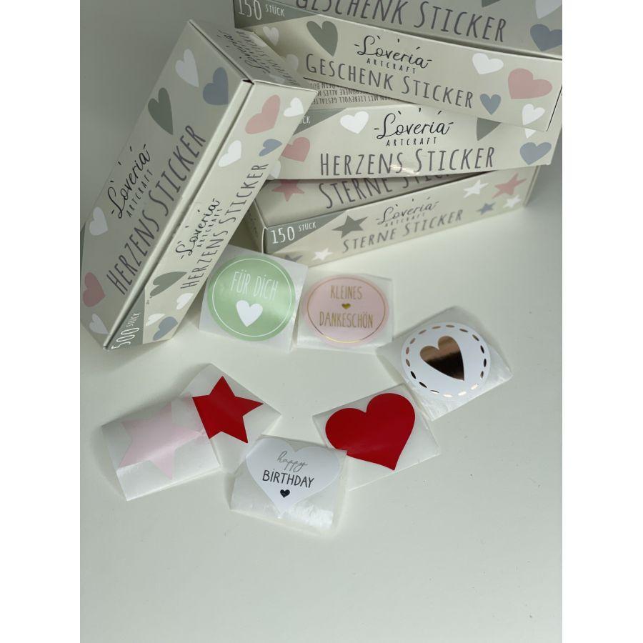 Loveria Sticker Set 500 Herzen