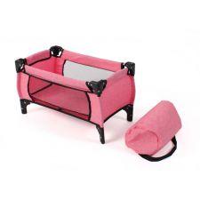 Puppen-Reisebett Deluxe Melange pink